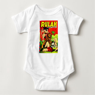 Rulah and a Big Scary Lion Baby Bodysuit
