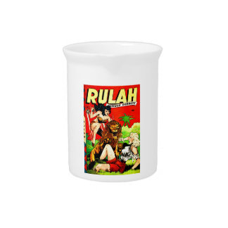 Rulah and a Big Scary Lion Drink Pitcher