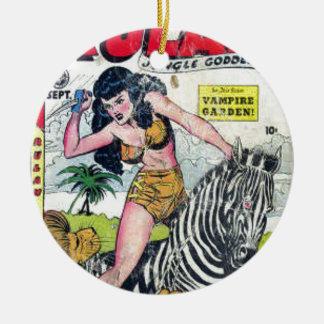 Rulah, Jungle Goddess Ceramic Ornament