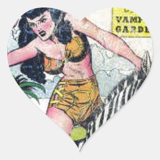 Rulah, Jungle Goddess Heart Sticker