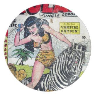 Rulah, Jungle Goddess Melamine Plate