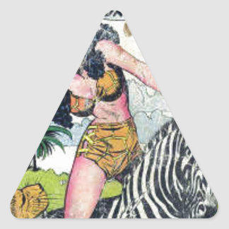 Rulah, Jungle Goddess Triangle Sticker