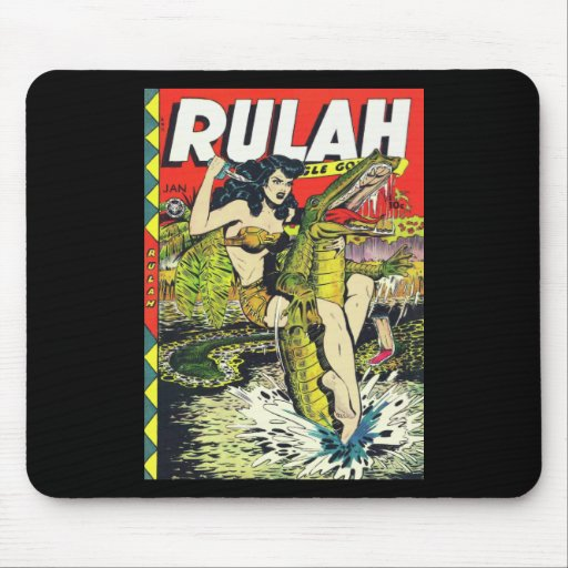 Rulah-Vintage Comic Book Mouse Pad