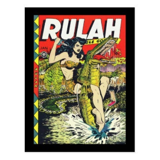 Rulah-Vintage Comic Book Postcard