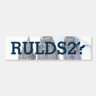 RULDS2? Salt Lake Temple Bumper Sticker