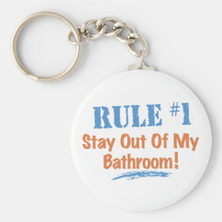 Rule #1 Stay Out Of My Bathroom Key Chain