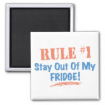 Rule #1 Stay Out Of My Fridge 2 Inch Square Magnet