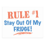 Rule #1 Stay Out Of My Fridge Postcard