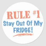 Rule #1 Stay Out Of My Fridge Classic Round Sticker