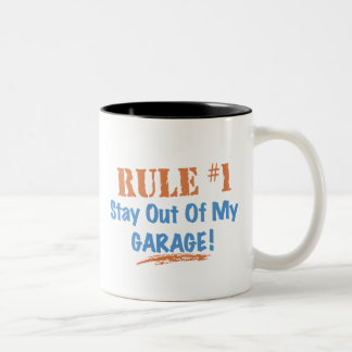 Rule #1 Stay Out Of My Garage Two-Tone Coffee Mug