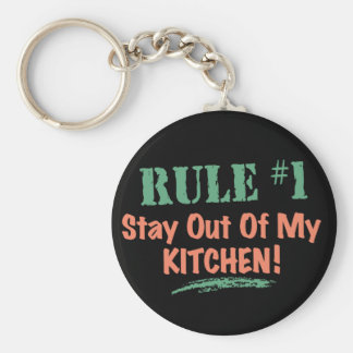 Rule #1 Stay Out Of My Kitchen Basic Round Button Keychain