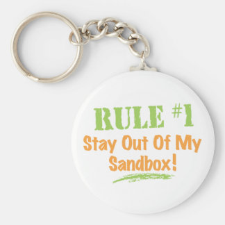 Rule #1 Stay Out Of My Sandbox! Keychains