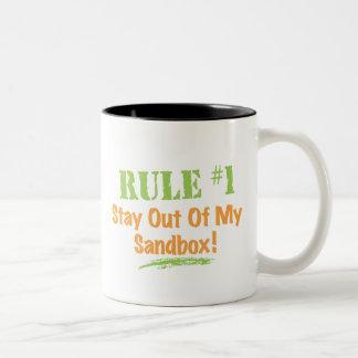 Rule #1 Stay Out Of My Sandbox! Coffee Mugs