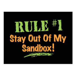 Rule #1 Stay Out Of My Sandbox! Post Cards