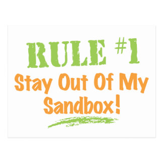 Rule #1 Stay Out Of My Sandbox! Post Card