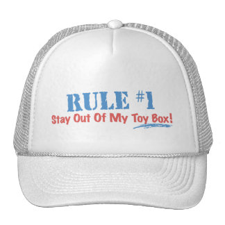 Rule #1 Stay Out Of My Toy Box Trucker Hat