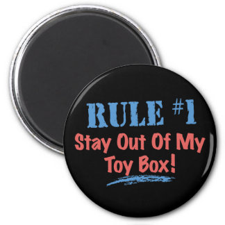 Rule #1 Stay Out Of My Toy Box Magnets