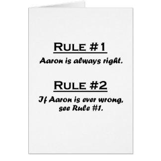 Rule Aaron Card