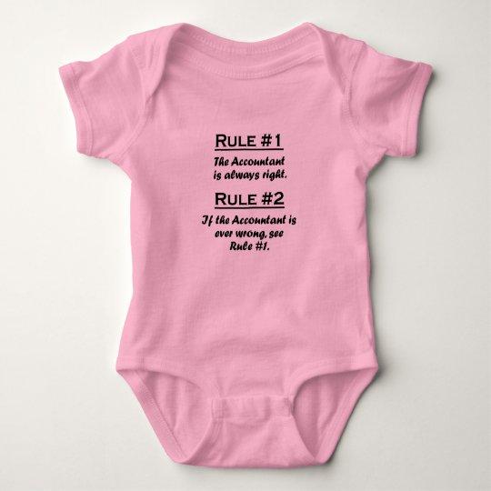Rule Accountant Baby Bodysuit
