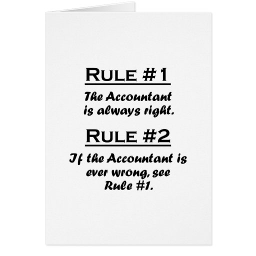 Rule Accountant Stationery Note Card