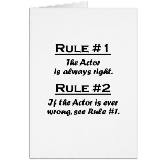 Rule Actor Card