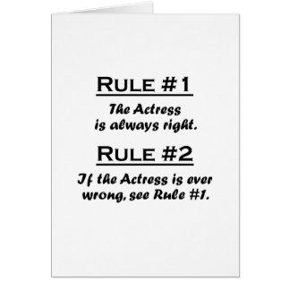 Rule Actress Card