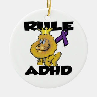 Rule ADHD Double-Sided Ceramic Round Christmas Ornament