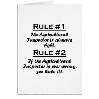 Rule Agricultural Inspector Greeting Card