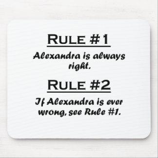 Rule Alexandra Mousepad