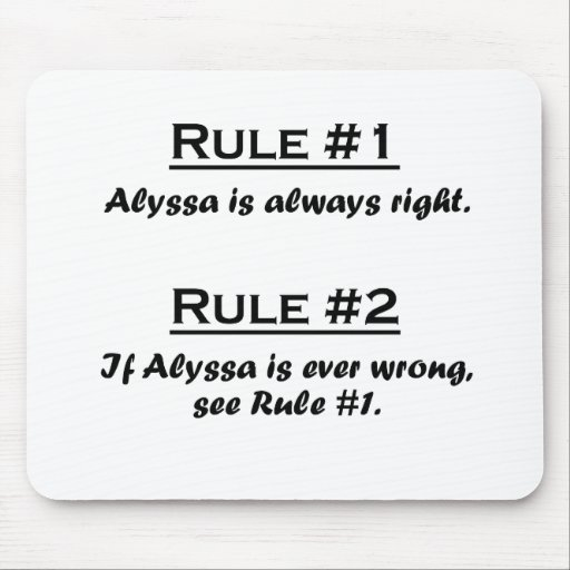 Rule Alyssa Mouse Pad