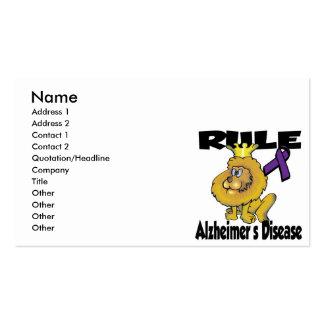 Rule Alzheimers Disease Business Card Template