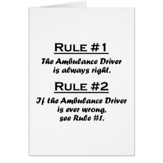 Rule Ambulance Driver Card
