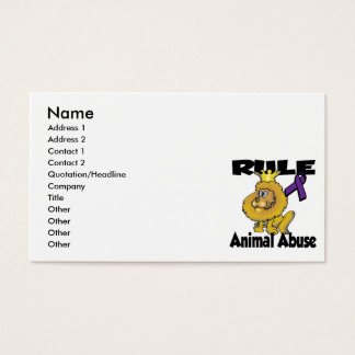 Rule Animal Abuse Business Card