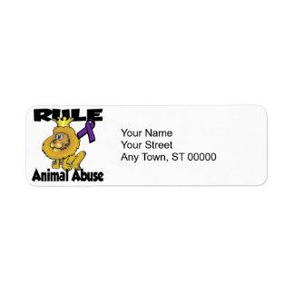 Rule Animal Abuse Return Address Label