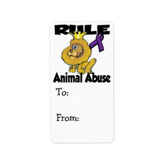 Rule Animal Abuse Address Label