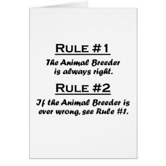 Rule Animal Breeder Card
