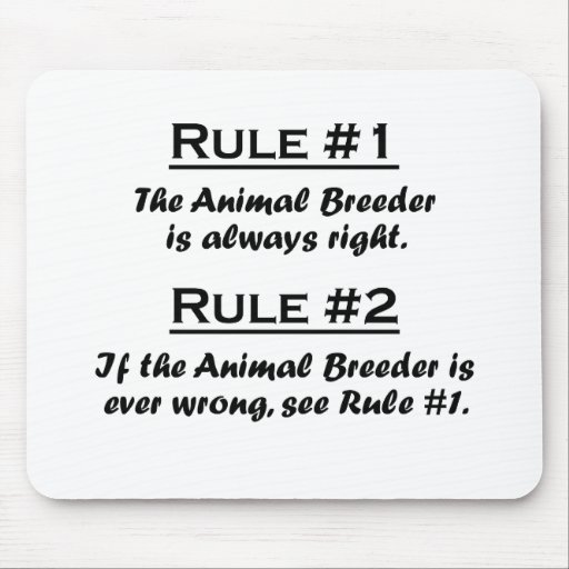 Rule Animal Breeder Mouse Pad