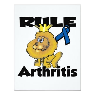 "Rule Arthritis 4.25"" X 5.5"" Invitation Card"