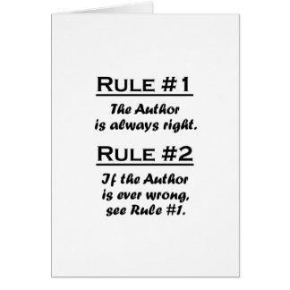 Rule Author Card