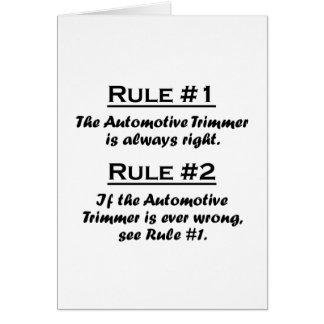 Rule Automotive Trimmer Card