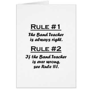 Rule Band Teacher Card