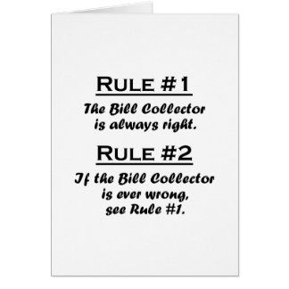 Rule Bill Collector Card