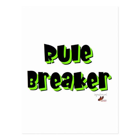 Rule Breaker Postcard