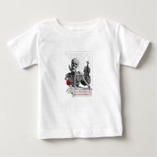 Rule Breaking Skeleton with Rose and Violin. Baby T-Shirt