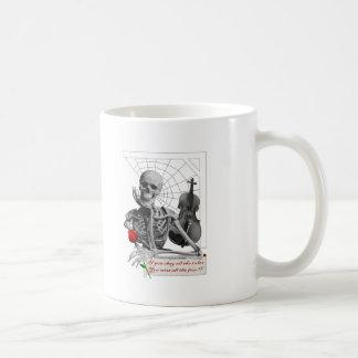 Rule Breaking Skeleton with Rose and Violin. Mug