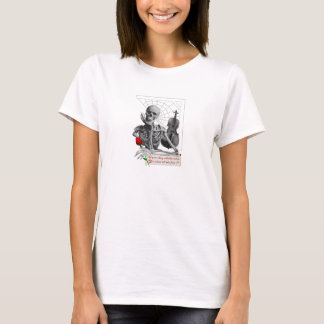 Rule Breaking Skeleton with Rose and Violin. T-Shirt