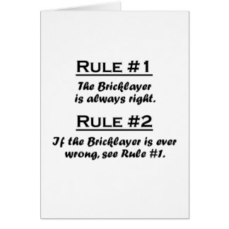 Rule Bricklayer Card