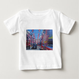 Rule Britannia London covered with Union Jack Flag Baby T-Shirt