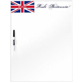 Rule Britannia!-Union Jack Flag-60 Years Dry-Erase Whiteboards