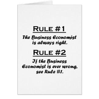 Rule Business Economist Card